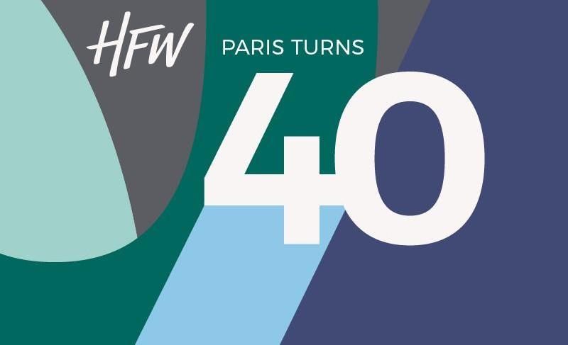 Hfw : 40ème anniversaire de louverture du bureau parisien le