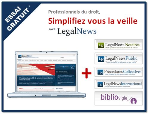 LegalNews , veille juridique et comptable