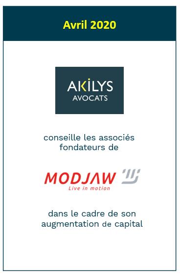 Akilys a conseillé Modjaw dans le cadre de son augmentation de capital