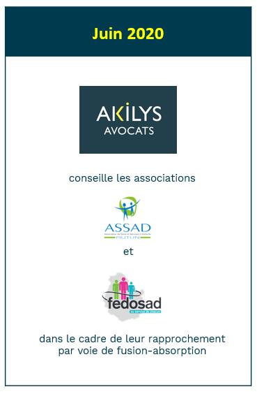 Akilys a conseillé les associations ASSAD et FEDOSAD dans leur rapprochement par voie de fusion