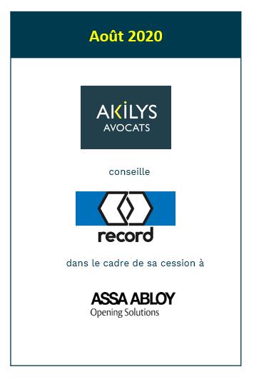 Akilys a accompagné Agta record dans le cadre de sa cession à Assa Abloy